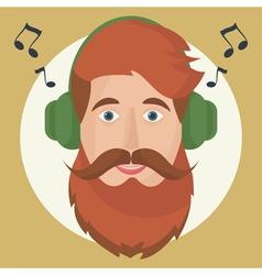Hipster headphones vector