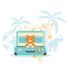 Journey with pets concept vector