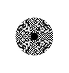 Op art style - black and white abstract optical vector