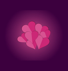 Paper hearts heart decorative valentines day vector
