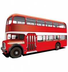 red double decker bus vector image vector image