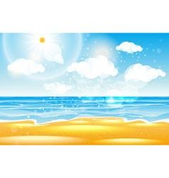 Sea of karon beach Thailand Sea beach with waves vector image