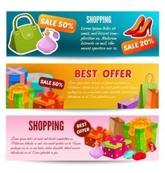 Shopping Horizontal Banners Set vector image vector image