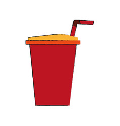 soda cup isolated vector image vector image