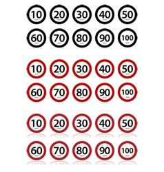 Speed limits vector image vector image