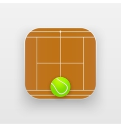 Square icon of tennis sport vector image