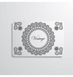 visiting card vector image