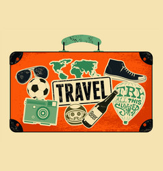 Typographical retro grunge travel poster vector