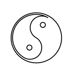 the yin and the yang vector image