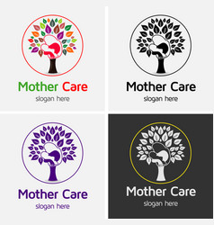 Mother care logo vector