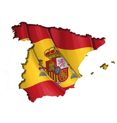 Spanish map flag vector