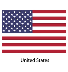 Flag country united states of america vector