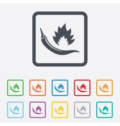 Hot chili pepper sign icon spicy food symbol vector