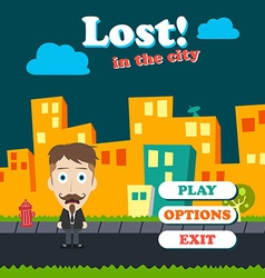 Game asset funny guy cartoon vector