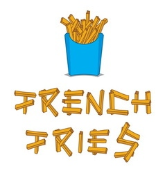 French fries3 vector