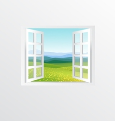 open windows vector image