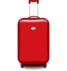 red suitcase vector image