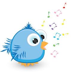 cartoon sparrow singing vector image