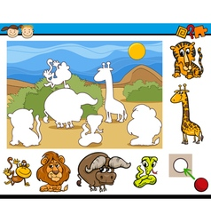 Educational preschool game cartoon vector
