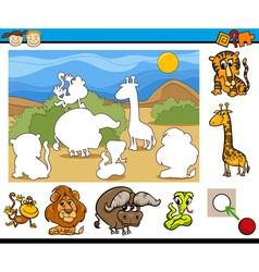 educational preschool game cartoon vector image