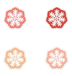 Set oof paper sticker on white background vector