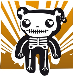 Teddy and bones vector