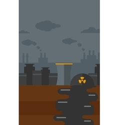 Background of nuclear power plant vector image