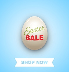 Easter sale background with egg vector