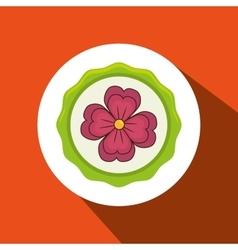 beatiful flower design vector image