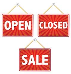 Retail Shop Signs vector image