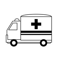 Ambulance healthcare related icon image vector