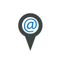At location mail marker message pin pointer icon vector