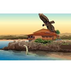 Beach house vector