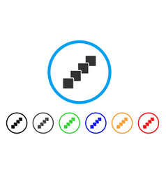 blockchain rounded icon vector image vector image