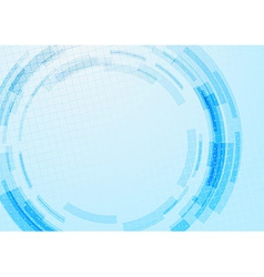 Blue technology gear modeling background vector image
