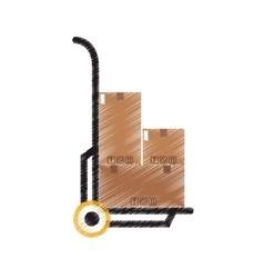 Carton box icon vector