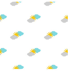 Clouds and sun pattern flat vector