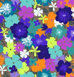 colorful flower print vector image