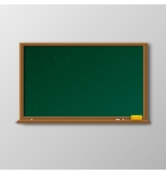 Empty green chalkboard with wooden frame vector image