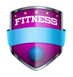 Fitness shield badge vector