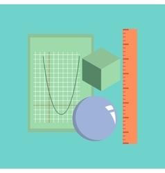 flat icon on stylish background geometry lesson vector image