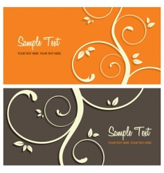 floral card set vector image vector image