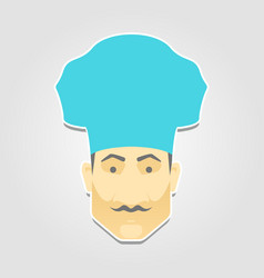 icon chef in flat style vector image