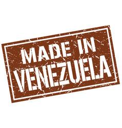 made in venezuela stamp vector image