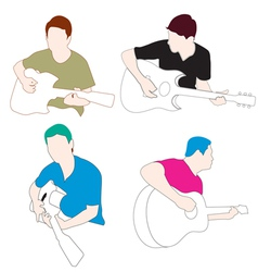 Man play guitar vector