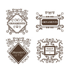 ornamental frames design vector image