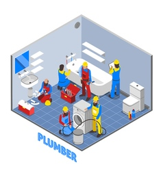Plumber isometric composition vector