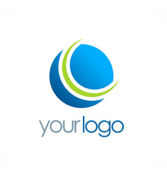 round globe planet logo vector image