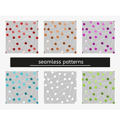 seamless pattern with bubbles vector image vector image