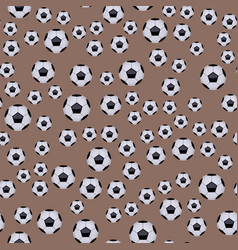 Seamless pattern with soccer balls hexagon vector